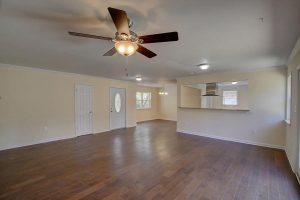 Open floor plan at 1466 River Road