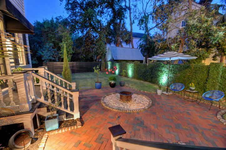 161 Tradd Street outdoor living spaces