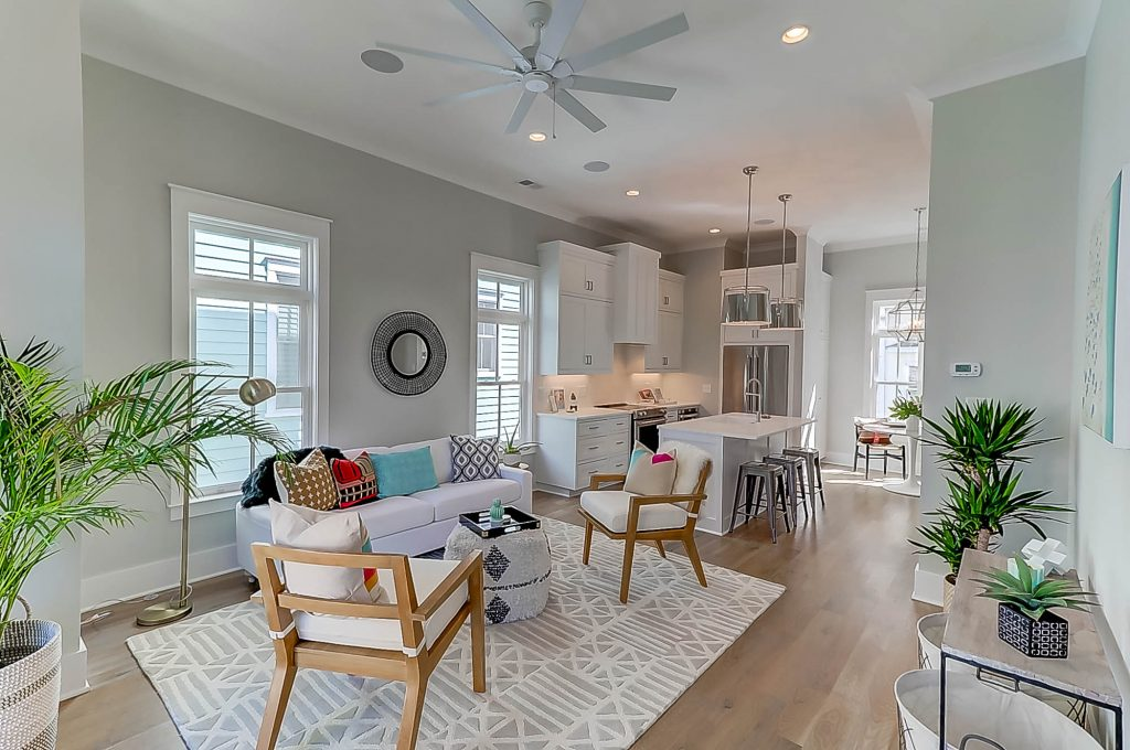 414 Rose Wilder living room & kitchen
