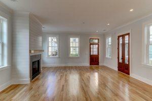 Living room at 407 Rose Wilder Lane