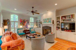 Living room at 1008 Mystic, Mount Pleasant