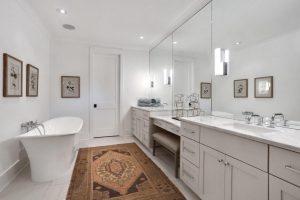 Master bathroom at 1311 Cove Avenue, Sullivans Island