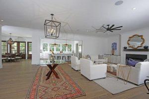 Living room at 1311 Cove Avenue, Sullivans Island