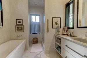 Master bathroom at 129 Live Oak Drive, Old Village