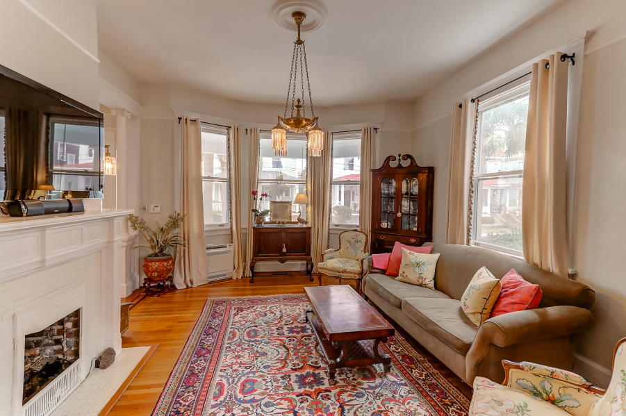 Living room at 9 Colonial Street, South of Broad