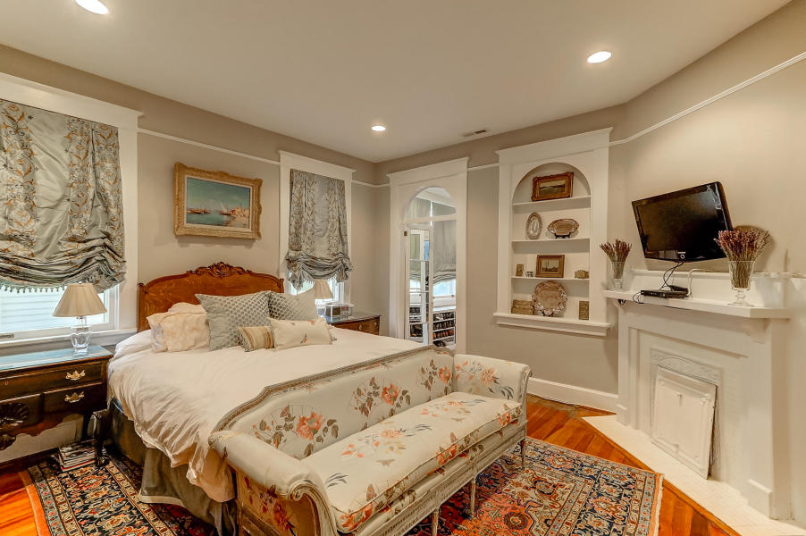 Master bedroom at 9 Colonial Street, South of Broad