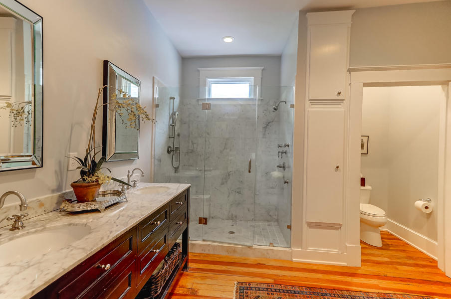 Master bathroom at 9 Colonial Street, South of Broad