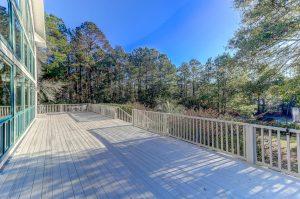 Expansive deck at 3329 River Landing Road, Johns Island