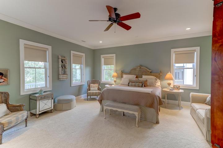 Master bedroom at 851 Dunham Street, Daniel Island