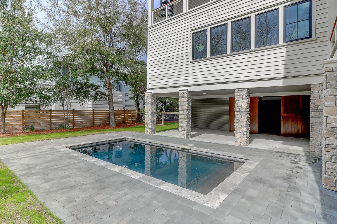Pool and backyard at 1311 Cove, Sullivan's Island