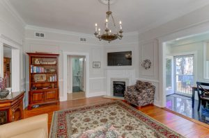 Living room at 10 Colonial Street, Downtown Charleston