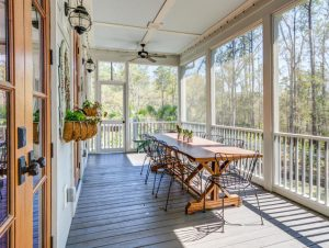Screened porch at 354 Bridgetown Pass, Mount Pleasant
