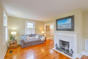 Living room at 135 Beaufain Street
