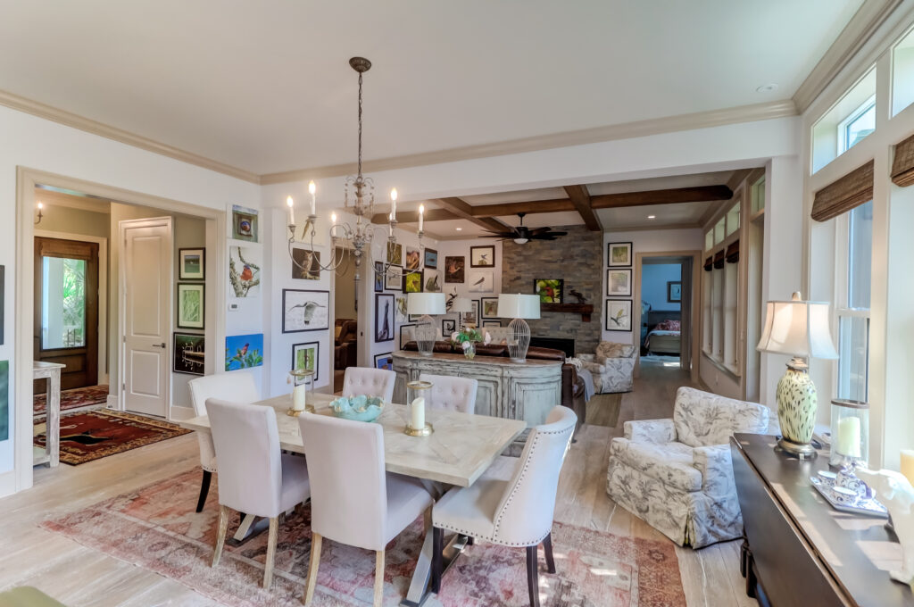 dining room & living room at kitchen at 4169 Longmarsh Road in Sewee Preserve