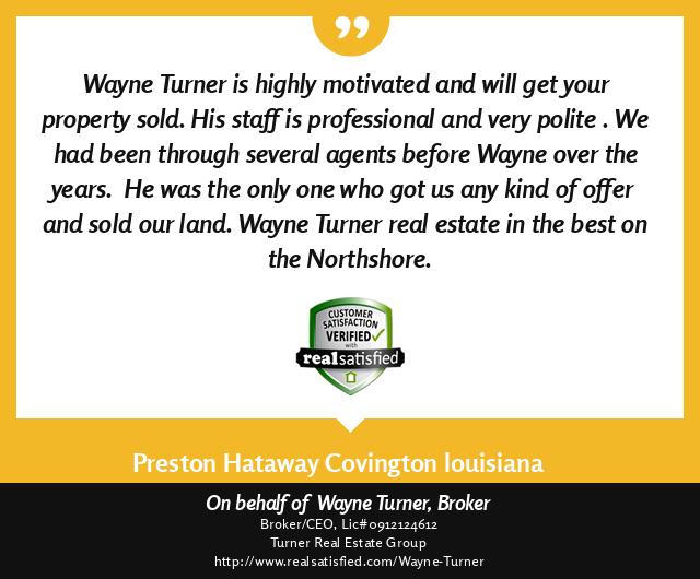 Covington Louisiana Top Realtor Testimonial