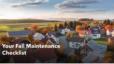 Your Fall Maintenance Checklist