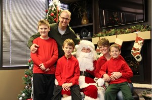Evelo Family Cookies with Santa 2013