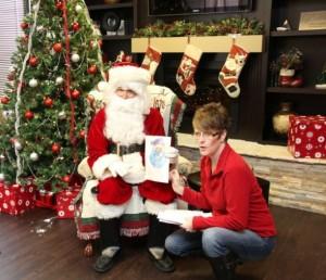 steph with santa