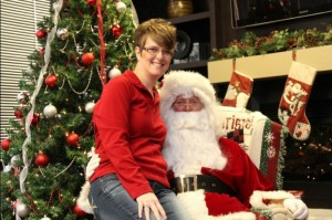 steph with santa cws