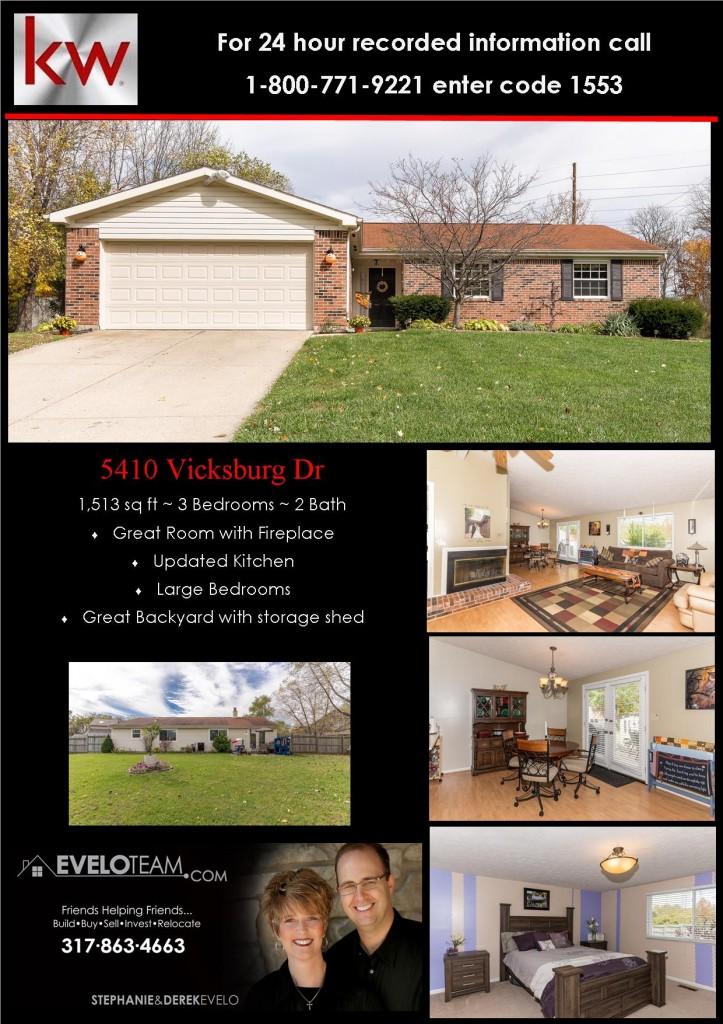 5410 Vicksburg Indy Home for Sale
