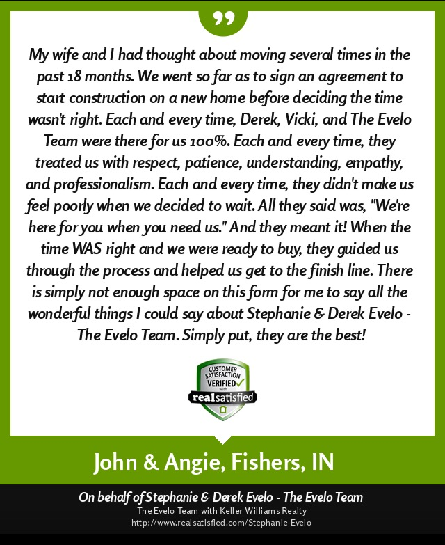John and Angie recommend Evelo Team