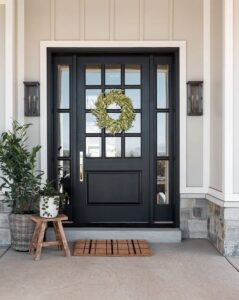 Painted door to boost curb appeal