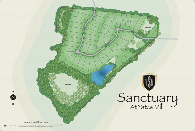 Sanctuary at yates mill new home community sitemap