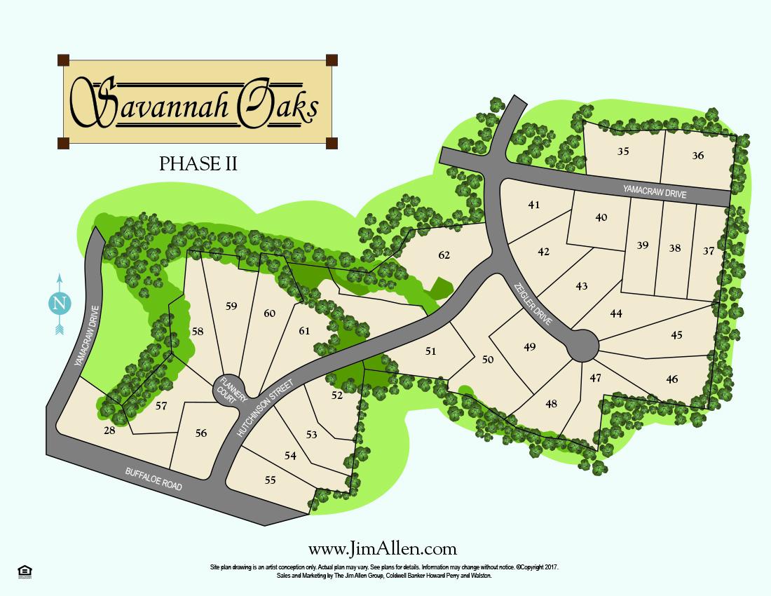 savannah oaks new homes sitemap