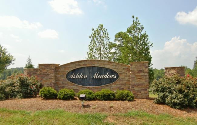 ashton meadows new homes entrance sign