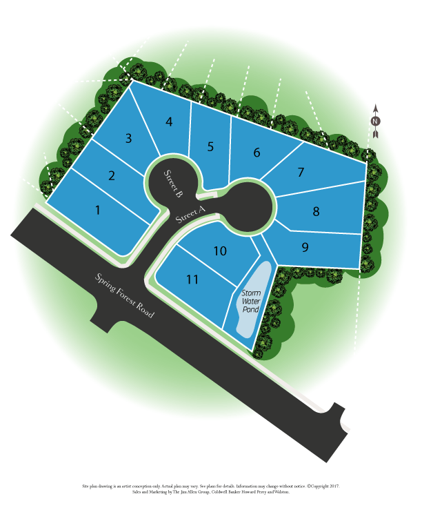 north ridge estate in raleigh sitemap new homes