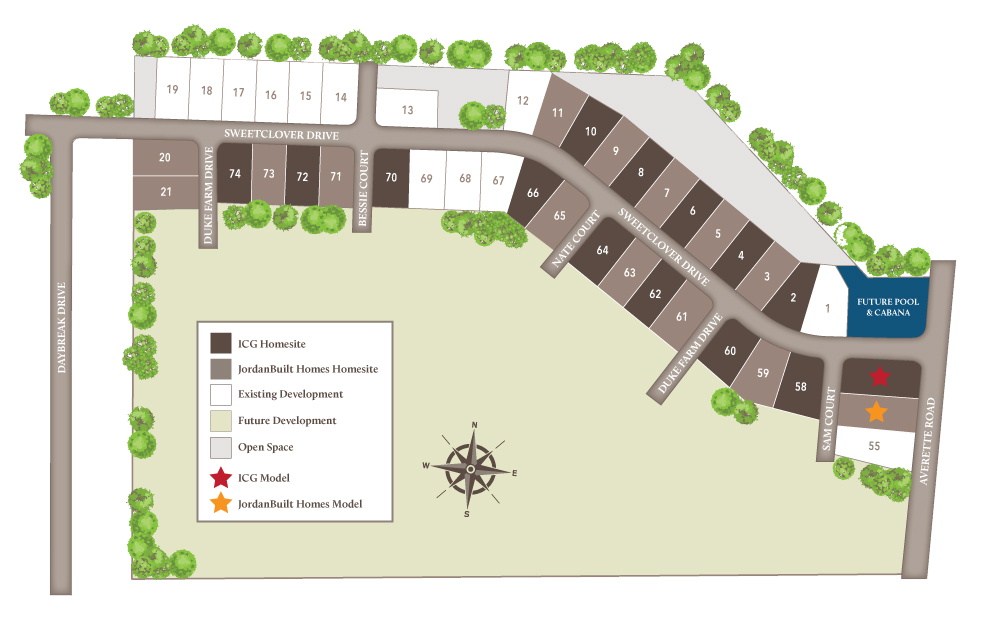perry farms new homes sitesmap rolesville