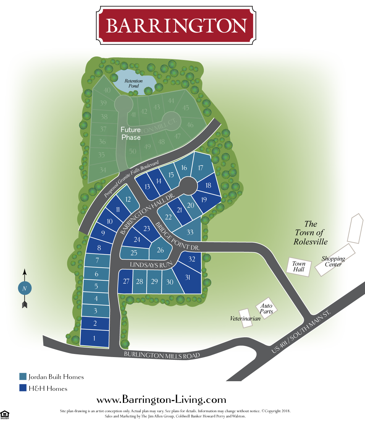 barrington new homes sitemap in rolesville