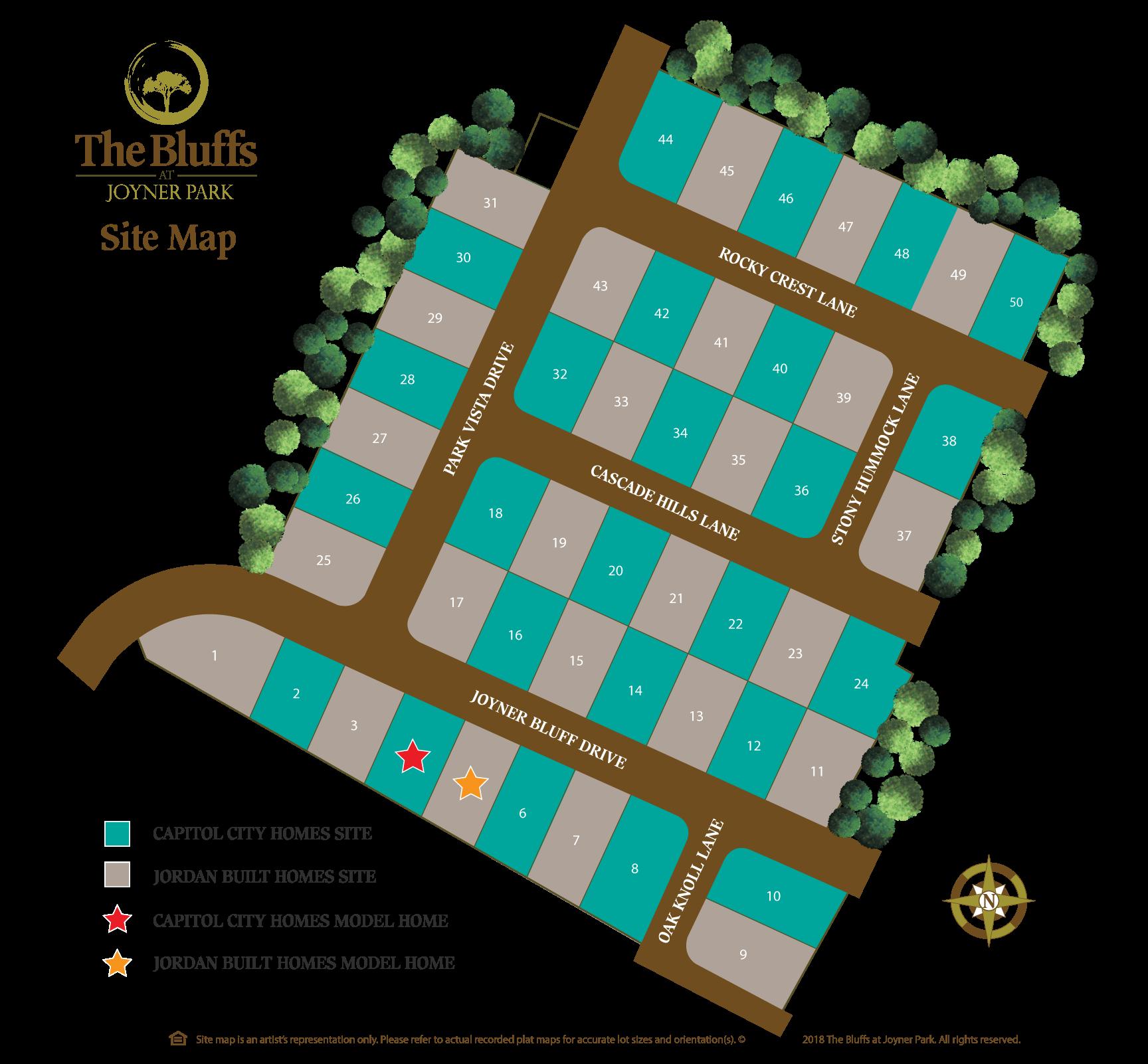 JOYNER PARK WAKE FOREST NEW HOMES SITEMAP
