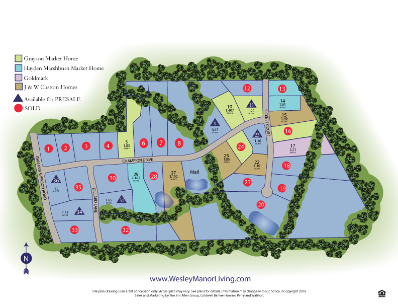 wesley manor sitemap new homes