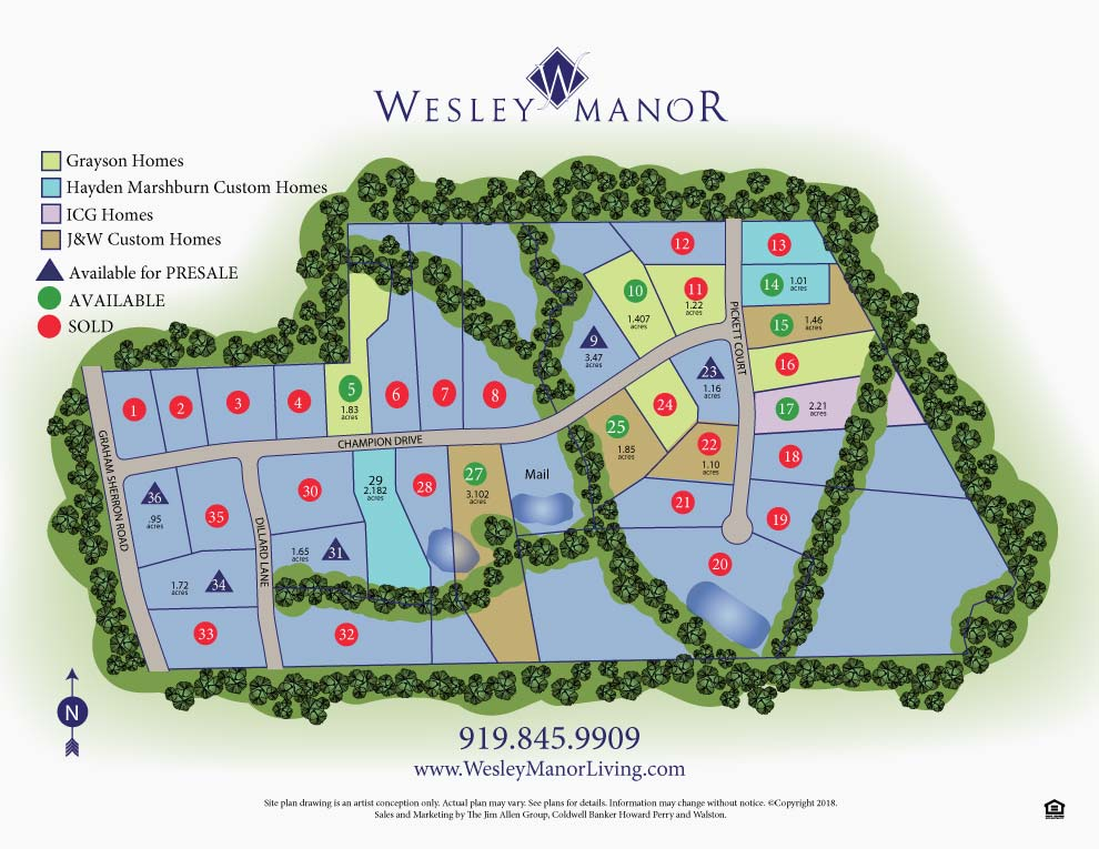 wesley manor new homes sitemap