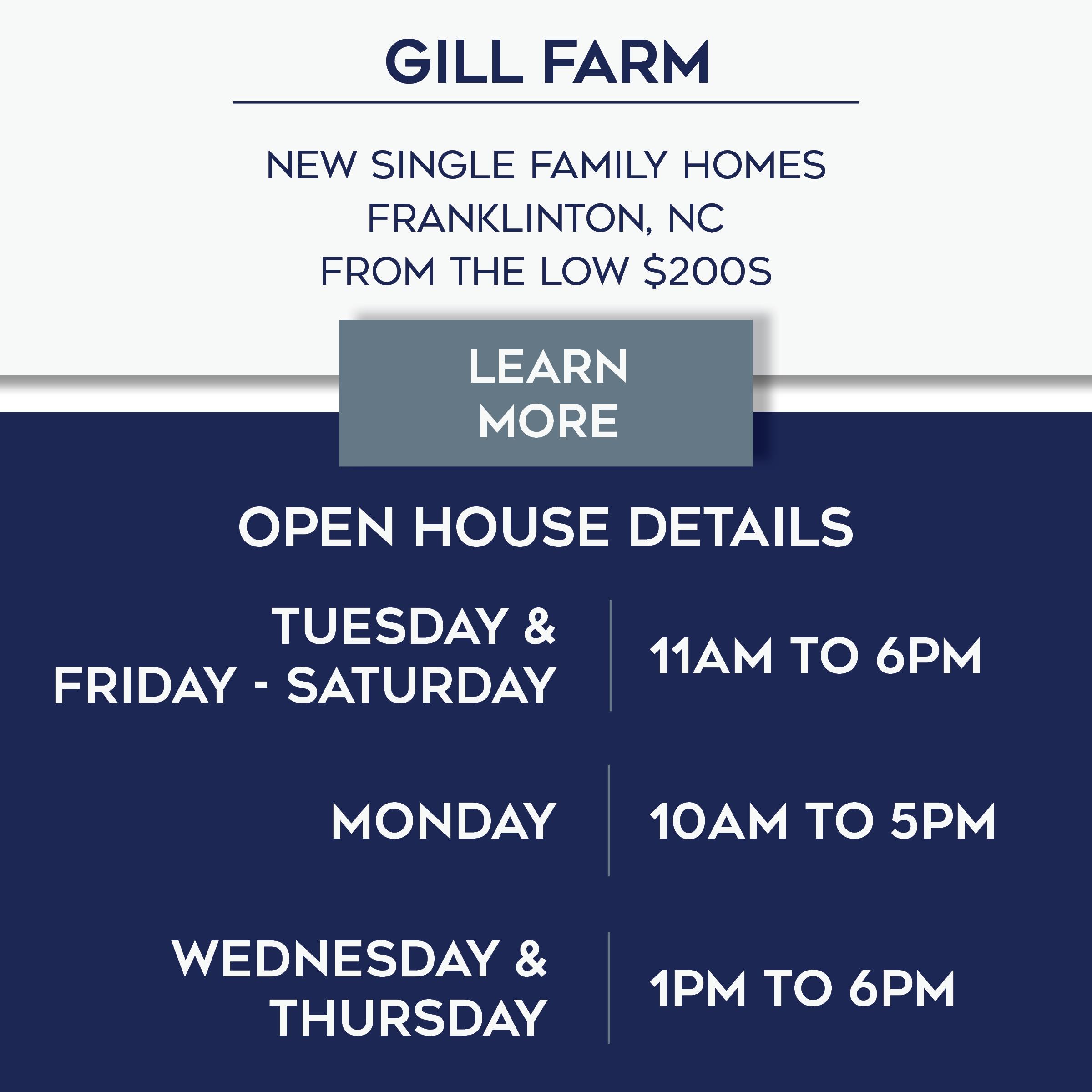 Gill Farm Open House