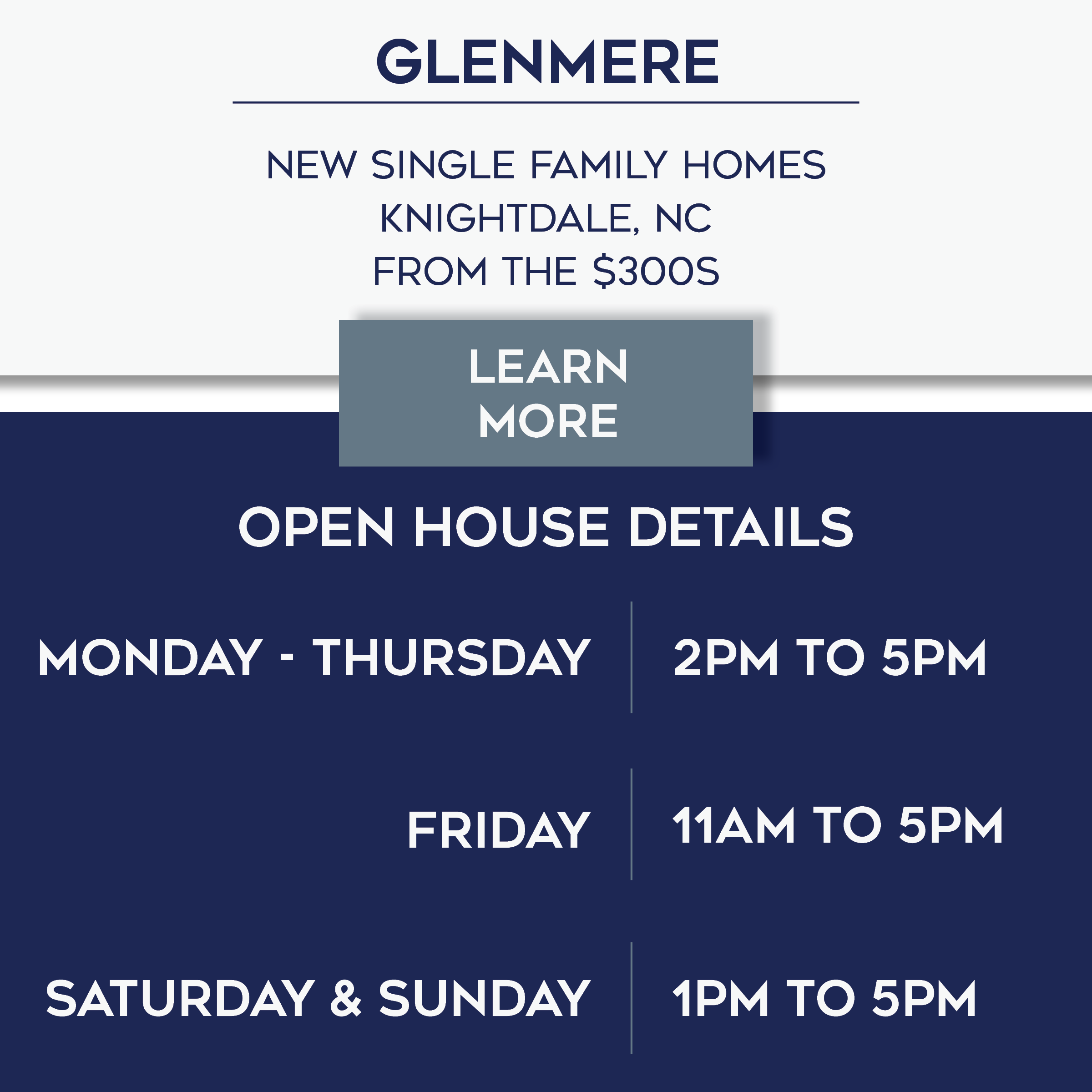 Glenmere Open House