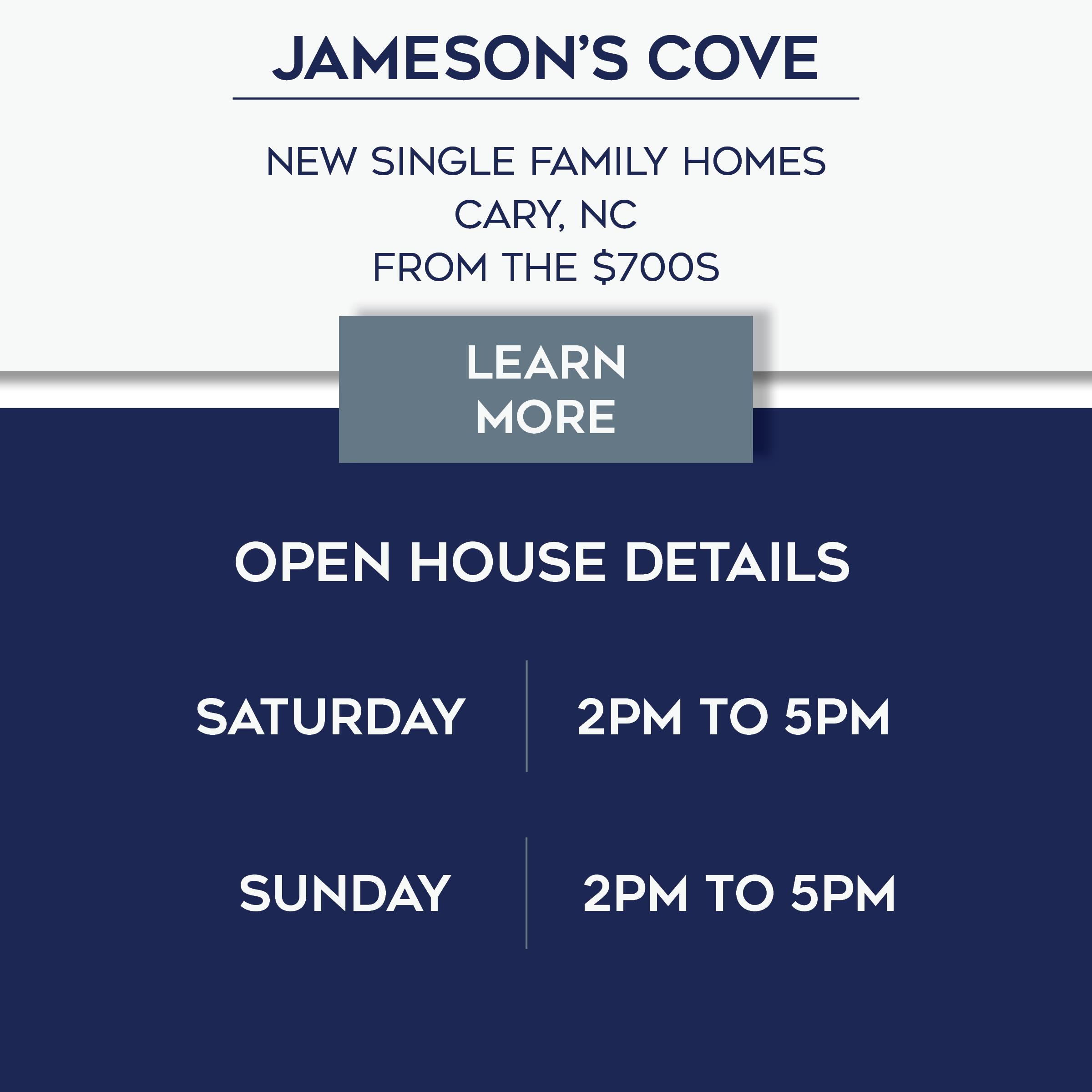 Jameson's Cove Open House