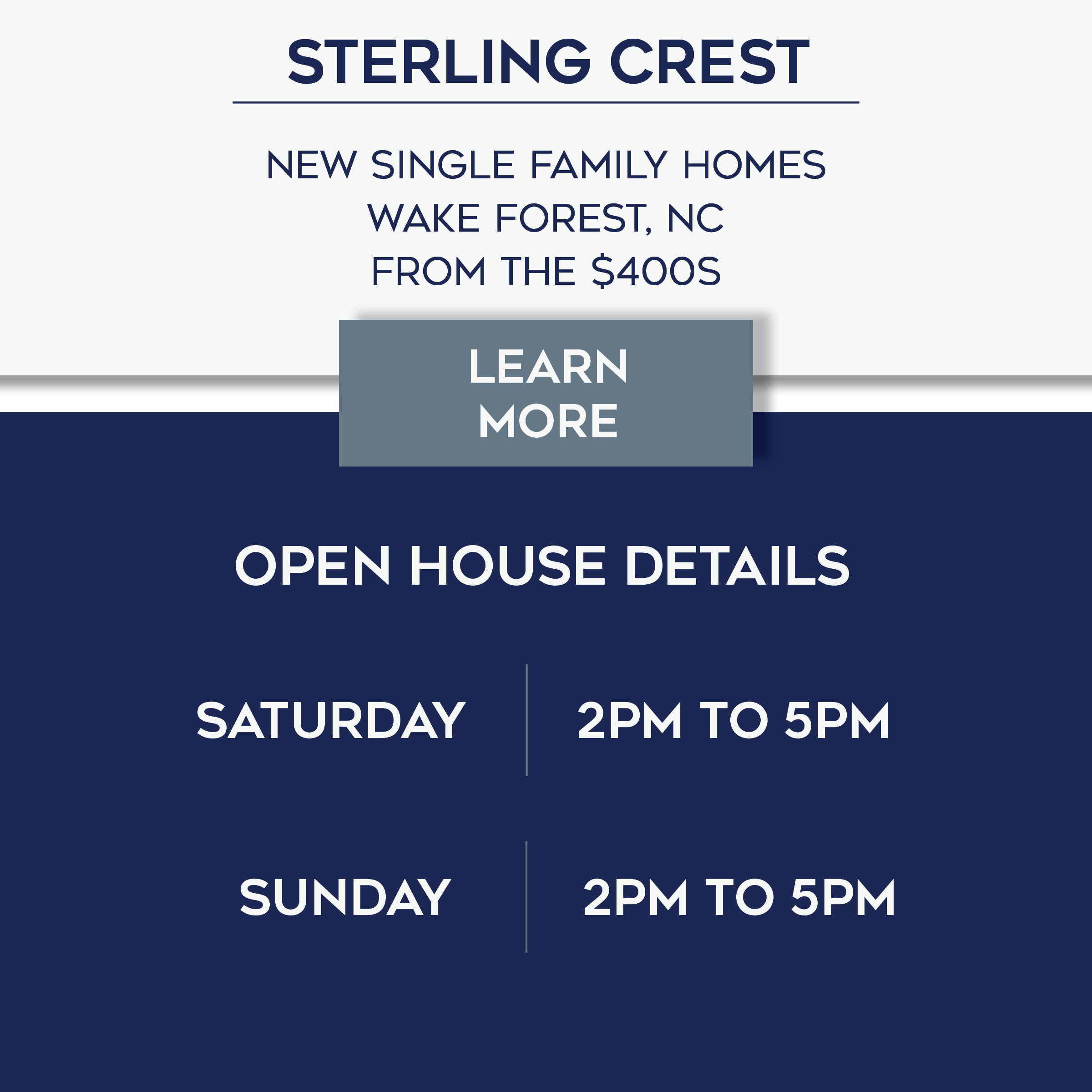 Sterling Crest Open House