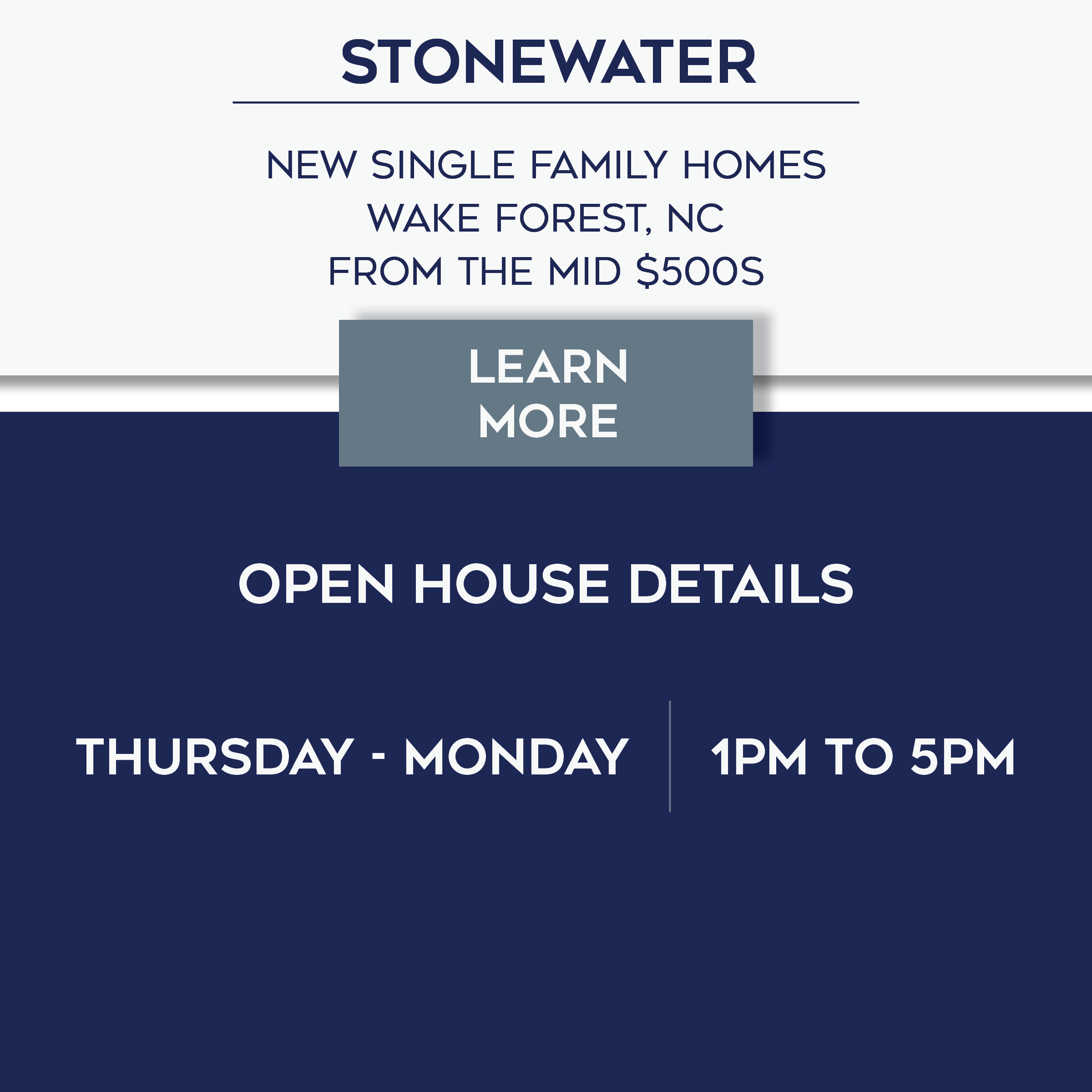 Stonewater Open House