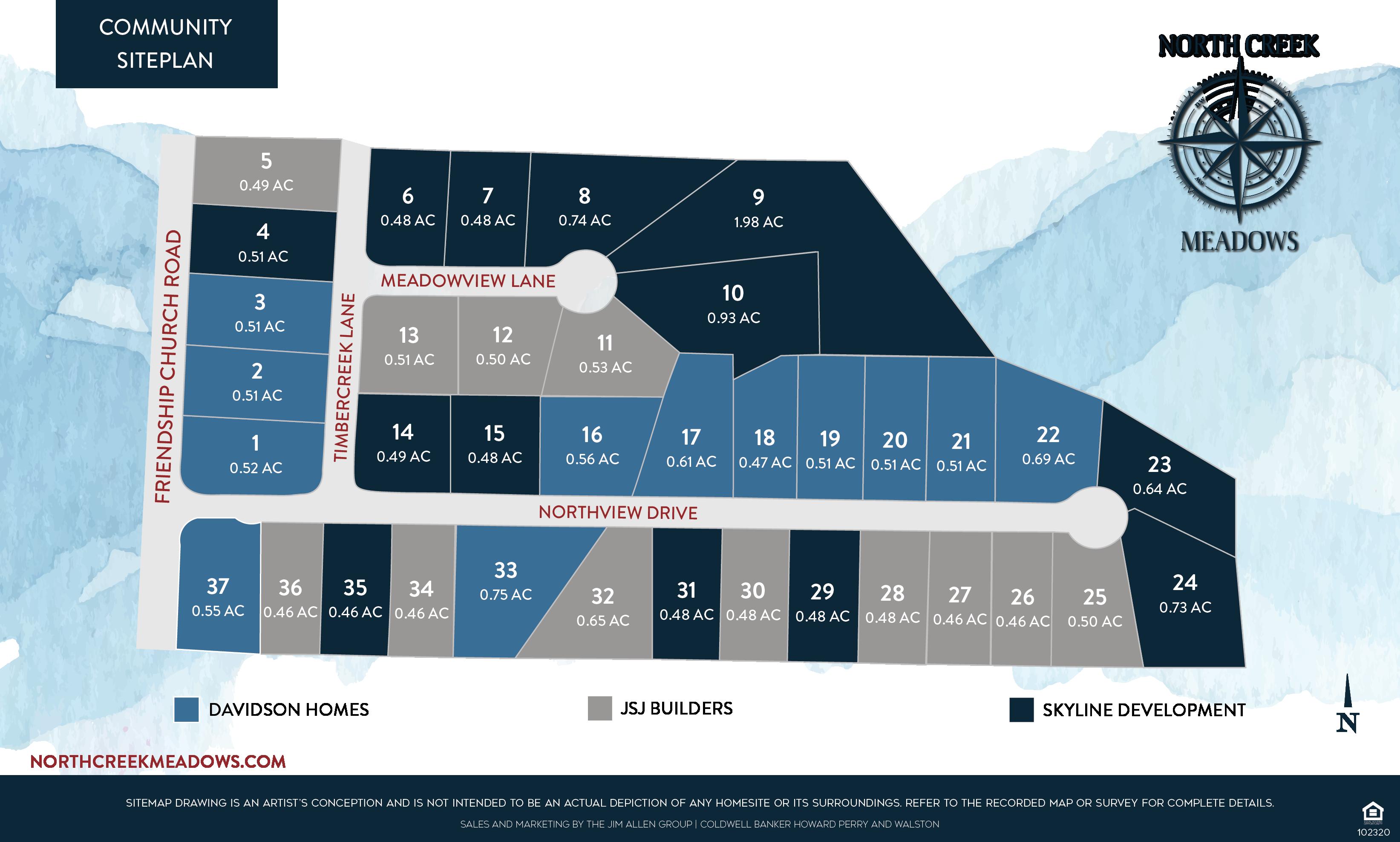 Click to Download North Creek Meadows Siteplan