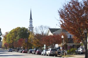 The heart of downtown Cary, lined with locally-owned restaurants and shops.