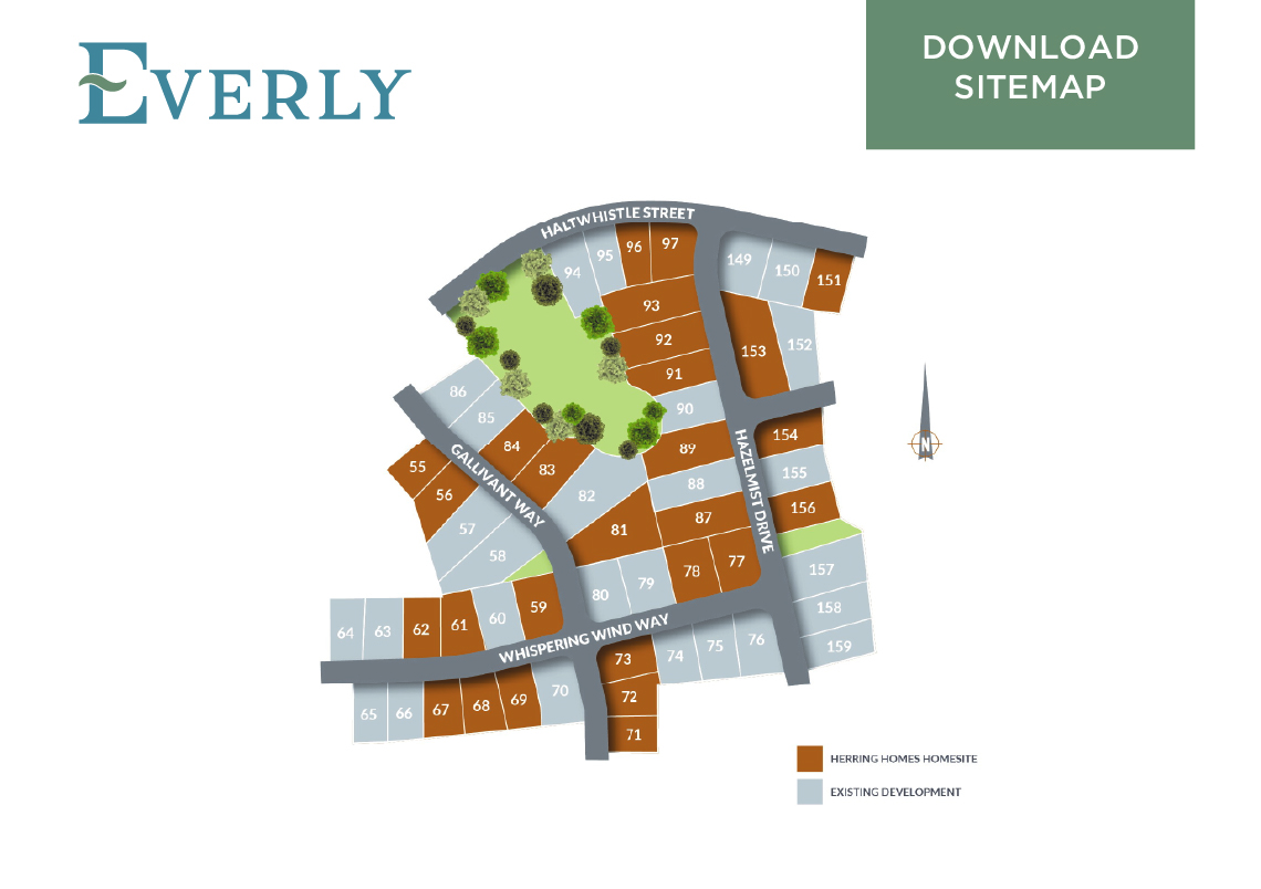 Everly Sitemap | New Homes from the Upper $200s by Herring Homes
