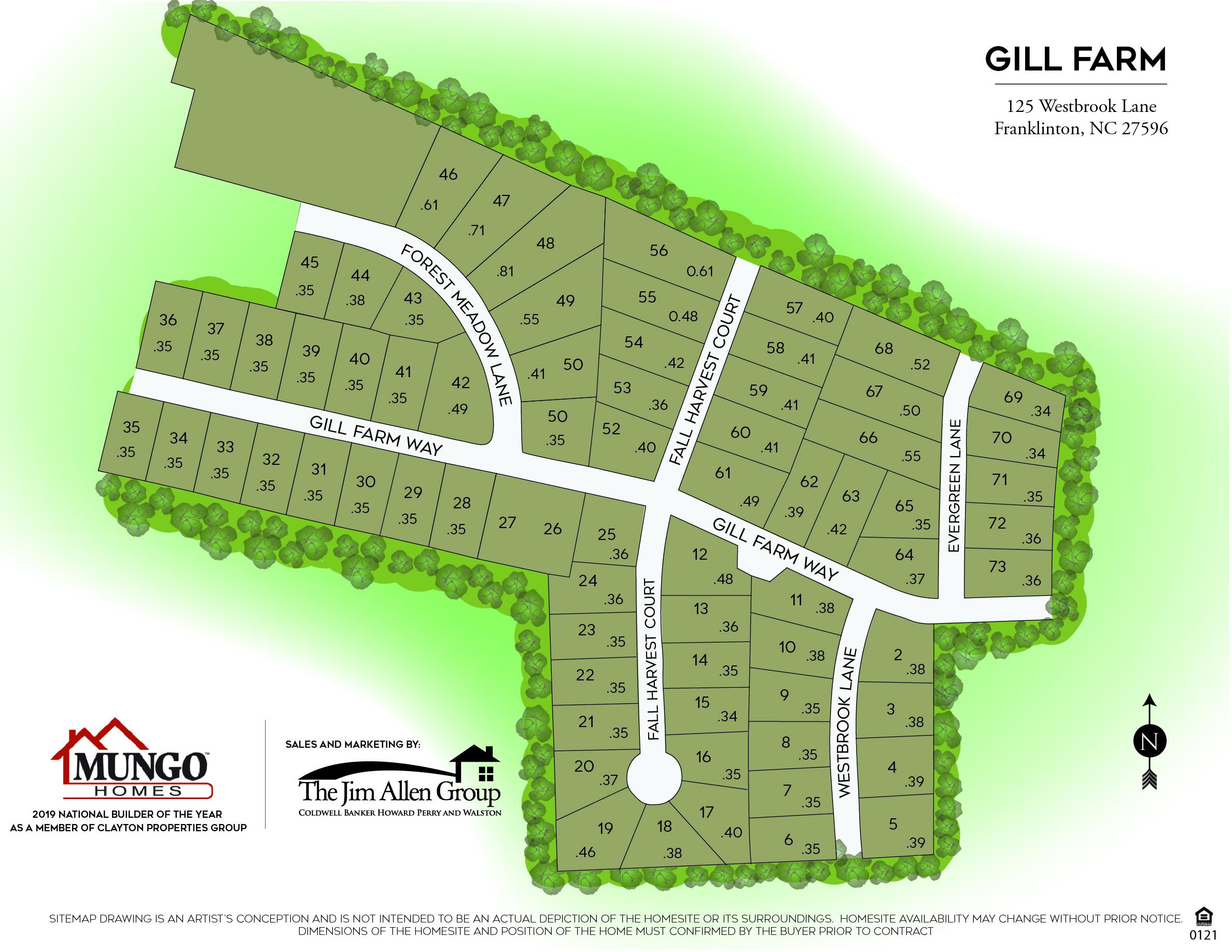 Gill Farm Siteplan