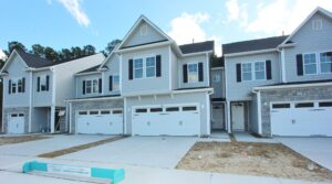 Row of new construction townhomes | Barrington Townes | Jim Allen Group