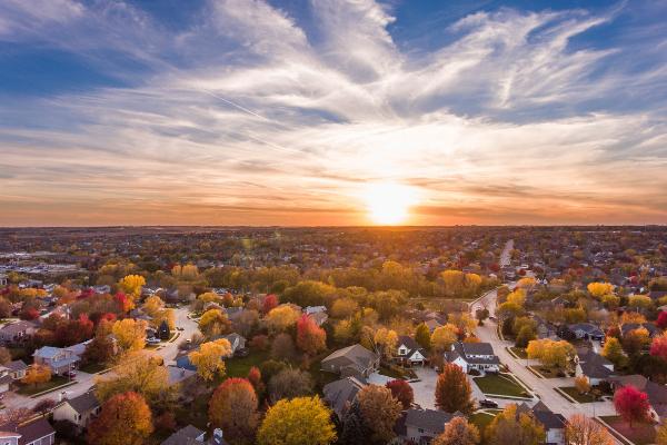 Suburban Neighborhood Ariel View | The Jim Allen Group