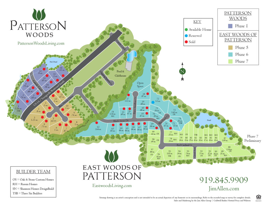 East Woods of Patterson | New Homes from the $400s in Youngsville, NC