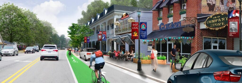 Rendering of Main Street Vision Plan in downtown Rolesville.