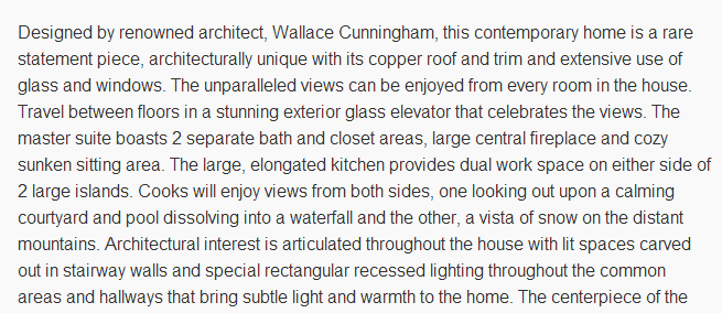 Real Estate Description