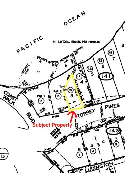 1624 Torrey Pines Plot Map